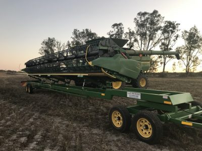 Loaded Comb Trailer in a Paddock - Reids Mechweld